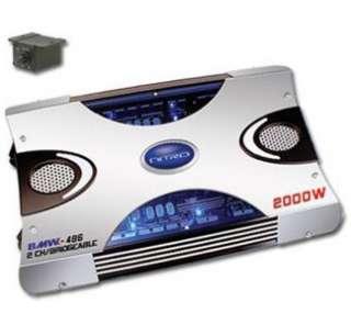 NITRO BMW 486 2000W 2 Ch. Amplifier with Bass Control