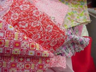 tiny prints cotton FABRICS QUILT CRAFT Sew all PINKS & REDS remnants