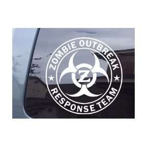 Zombie Outbreak Response Team With Z Car Laptop Vinyl Decal Sticker