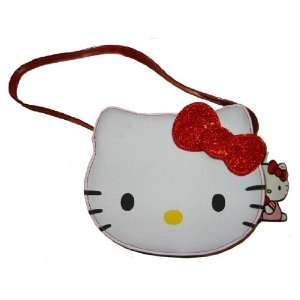 Sanrio Hello Kitty White Face Red Ribbon Purse Handbag