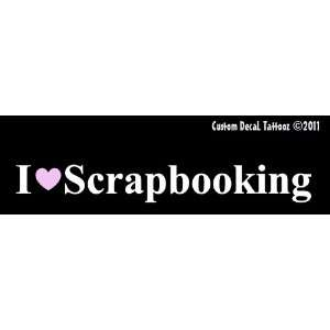 Love Scrapbooking with Pink Heart Car Window Decal Sticker White 8