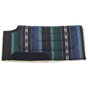 Mesa Herculon Cut Back Saddle Pad   Black/Green  Sports