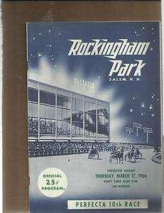 1966 ROCKINGHAM PARK HARNESS RACING PROGRAM 4 17 EXCELLENT