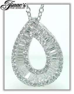 50 CT Pear Shape Diamond Pendant 18KW Gold