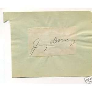 Jimmy Dorsey Jazz Big Band Rare Signed Autograph Sports