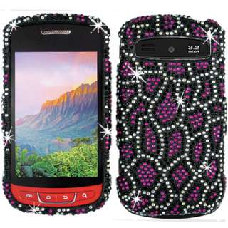 PINK DIAMOND BLING CRYSTAL FACEPLATE CASE COVER SAMSUNG ADMIRE