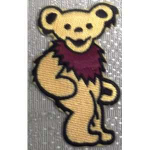 GRATEFUL DEAD Yellow Dancing BEAR Embroidered PATCH