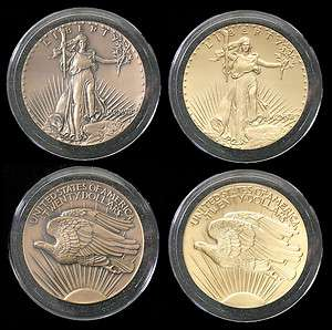 2009 Saint Gaudens 3 Double Eagle Commemorative Medal Pattern & Gold