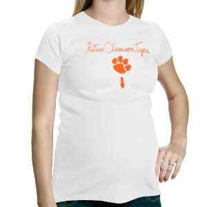 Clemson Tigers White Future Tiger Maternity T shirt Sports & Outdoors