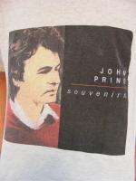 vtg JOHN PRINE CONCERT T SHIRT souvenirs tour rare M