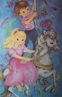 Boy/ Girl on Carousal Horse