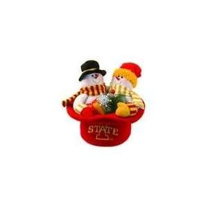 Hoosiers Snowmen Top Hat Table Christmas Decorat