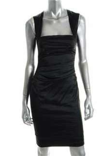 FAMOUS CATALOG Moda Black Versatile Dress Ribbed Fitted 8