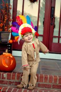 Handmade Peasant Native American Indian Boy childrens costume size