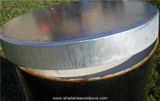 galvanized steel lid for 55 gal barrel deer feeder