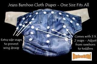 Bamboo Baby Cloth Diaper/Nappy Organic+2 Inserts CAMO