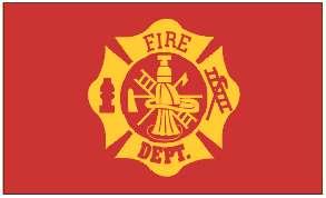 FIRE Department Firefighter Flag 3x5 3 x 5 foot   NEW
