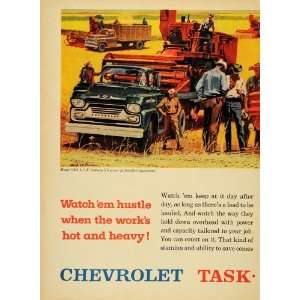 1958 Ad Chevrolet Model 5303 V8 Fleetside Pickup Trucks