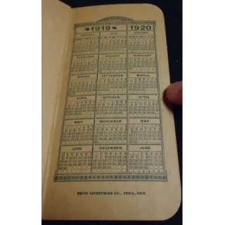 1919 Vintage Memo Book Garland Stoves Ranges DETROIT MI