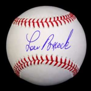 Lou Brock Signed Autographed Oml Baseball Ball Psa/dna