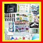 nintendo wii console+ fit bundle 4 player 2011 black hd one day
