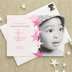 Pink Personalized Birhday Inviaions for Girls   Birhday Sar