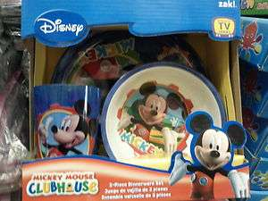 DISNEY MICKEY MOUSE CLUBHOUSE KID 3 PIECES DINNERWARE SET L@@K