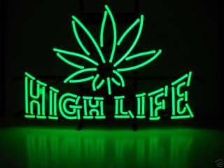 Neon sign medical marijuana dispensary pot leaf sign