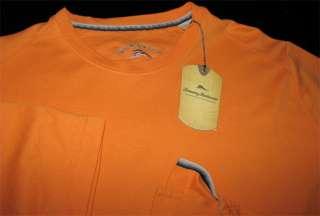 Tommy Bahama New T21544 Blu Lei Starfish Orange Crew T Tee Shirt L
