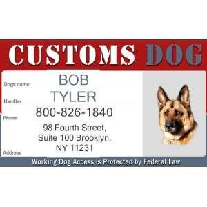 CUSTOMS ID Badge   1 Dogs Custom ID Badge   Design#4