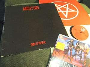 MOTLEY CRUE Shout at the Devil Elektra 83 LP NM tshirt order form