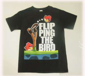 Angry Birds T Shirt Licensed Flip Ping The Bird Adult