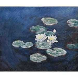 Claude Monet Waterlilies; Evening  Art Reproduction Oil