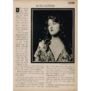 1923 Ruth Clifford Silent Film Actress Biography Print
