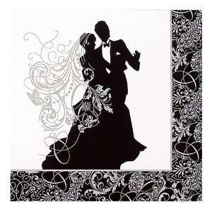 Wedding Silhouette Paper Luncheon Napkins   Bulk