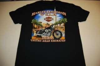 harley davidson dubai t shirt light damage medium foreign