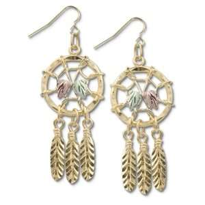 Dream Catcher Nature Jewelry   Black Hills Gold 10k Dreamcatcher