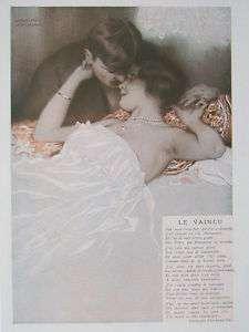 Art Deco Original Print Fantasio 1913 Raphael Kirchner