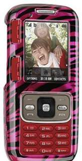 PLUM PINK BLACK ZEBRA SKIN CASE FOR SAMSUNG RANT m540