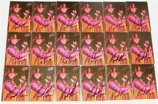 AMAZING LOT OF 15 MACHO MAN RANDY SAVAGE HAND SIGNED 1994 ACTION