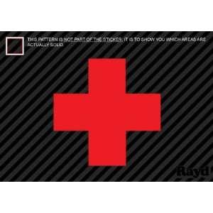 (2x) Red Cross   First Aid   Sticker   Decal   Die Cut