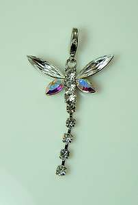 Kirks Folly Crystal Wishing Dragonfly Charm