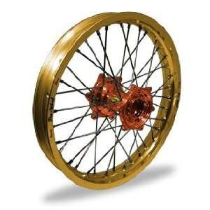 Wheel MX Rear Wheel Set   18x2.15   Gold Rim/Orange Hub 24 45864 HUB