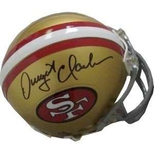 Dwight Clark Autographed/Hand Signed San Francisco 49ers Replica Mini
