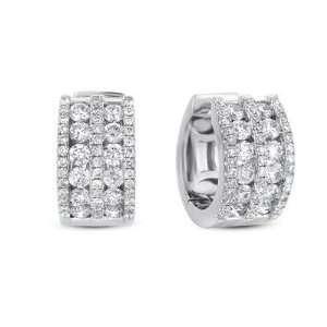 14k 1.21 Dwt Diamond White Gold Earrings   JewelryWeb