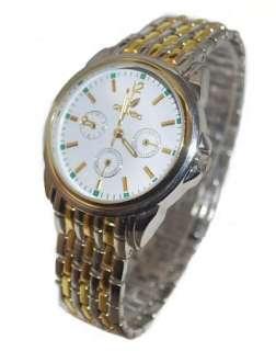 New Luxury Gold Gents Quartz Man Wrist Watch Gift #138