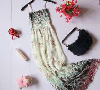 New Womens Boho Full Length Long Dresses Chiffon 1045