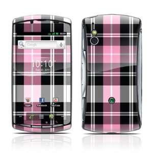 Pink Plaid Design Protective Skin Decal Sticker for Sony