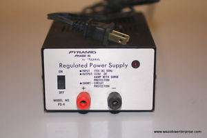 PYRAMID PHASE III PS 4 PS4 REGULATED POWER SUPPLY 13.8V