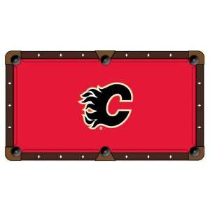Calgary Flames Logo Billiard Table Cloth Sports